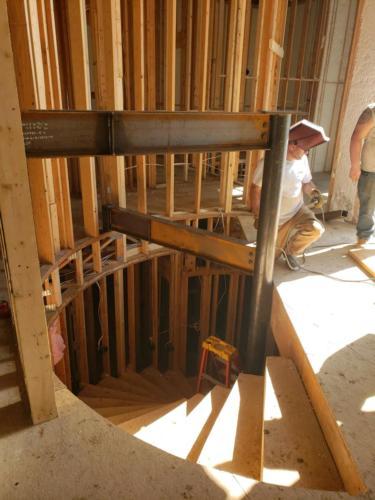 Spiral Mono-Stringer Staircase